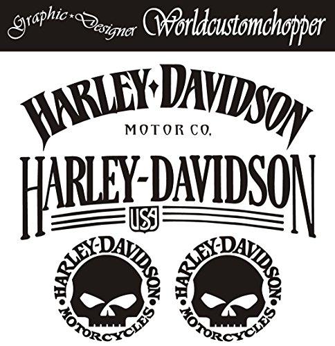1 ADESIVO STICKERS REPLICA HARLEY DAVIDSON LODY SHIELD  SERBATOIO CASCO MOTO
