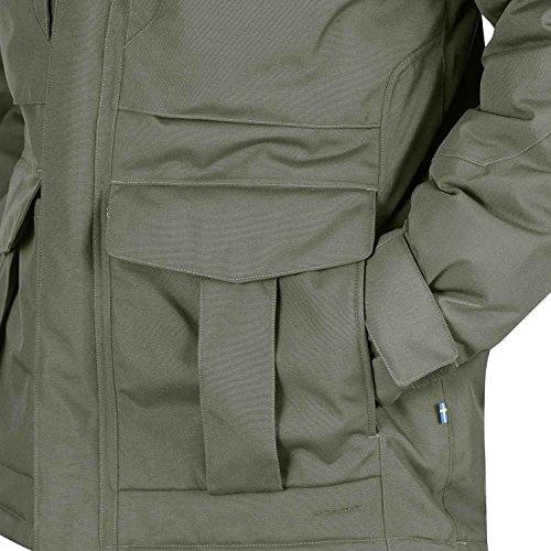 Fjällräven - Yupik - Veste - OUTERWEAR - Homme - Verte (Dark Olive/Dark Grey) noir marron