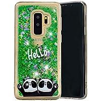 Carols Samsung Galaxy S9 Plus Hülle, Samsung Galaxy S9 Plus Flüssig Hülle, Samsung Galaxy S9 Plus Treibsand Hülle - Zwei Pandas