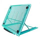 Soporte para portátil o monitor, diseño ajustable y con ventilación de malla, 24x 19cm