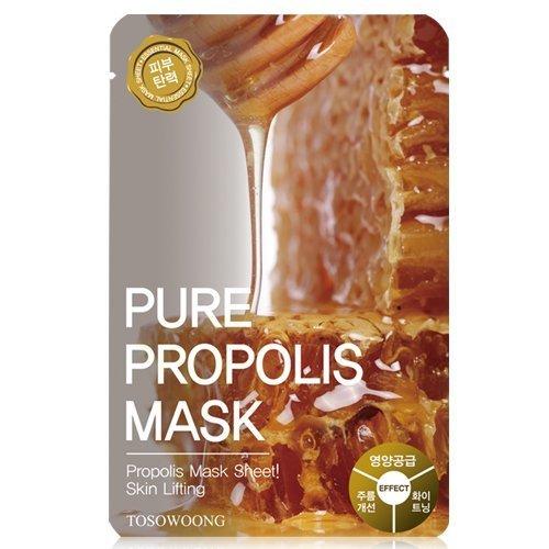 [Tosowoong] masksheet 10PCS/Mask pack/Essence Facial Mask/Mask Sheet/Aloe/Blueberry/Green tea/Snail/Deep sea water/Propolis (Propolis) (Facial Pack Sheet Mask)