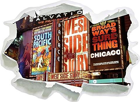 Programme de la taille de sticker mural 3D en papier du légendaire Broadway: 92x67 cm (Broadway Sala Da Pranzo)