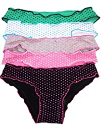 Mädchen Panty Unterhose 5er Pack Hipster Slip Farbmix