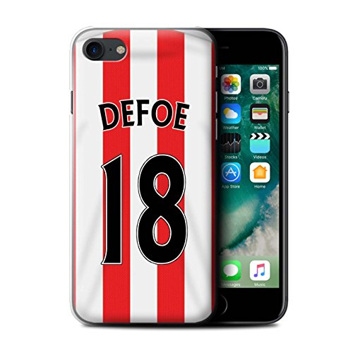 Offiziell Sunderland AFC Hülle / Case für Apple iPhone 7 / Rodwell Muster / SAFC Trikot Home 15/16 Kollektion Defoe
