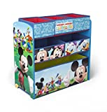 Disney - Mueble guarda juguetes y organizador de madera y tela Mickey Mouse, color azul (TB84847MM)