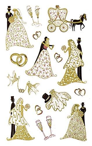 AVERY Zweckform 55176 Deko Sticker Brautpaar 15 Aufkleber