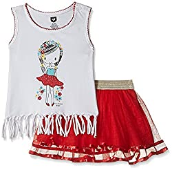 612 League Baby Girls Clothing Set (ILS17I75004-3 - 6 Months-RED)
