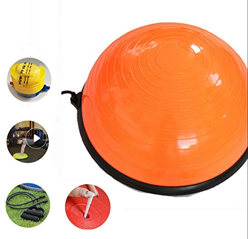 Wly&Home Stability Balance Disc Trainer - 58Diameter Wobble Kissen/Luftpumpe Für Training, Therapie, Fitness Und Training,Orange