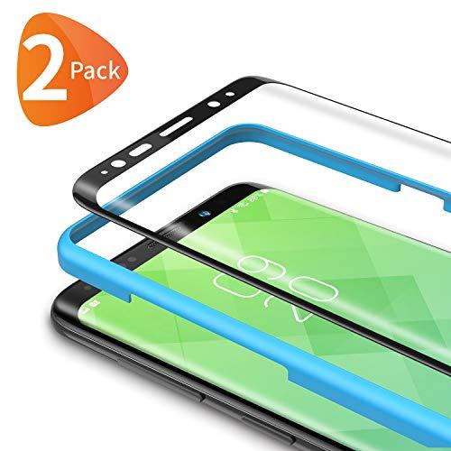 Bewahly Protector de Pantalla Samsung Galaxy S8 con Kit de Instalación, 3D Cristal Templado para Samsung Galaxy S8, 9H Alta Definicion sin Burbujas [2 Piezas]