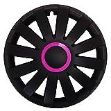 (Größe & Farbe wählbar) 15 Zoll Radkappen RACE (Pink) passend für fast alle Fahrzeugtypen - universal