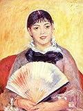 Poster Pierre-Auguste Renoir - Frau mit dem Fächer 80x60 cm