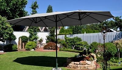 Leco 20300103 Oval-Schirm, 2.70 x 4.60 m, natur von Leco - Gartenmöbel von Du und Dein Garten