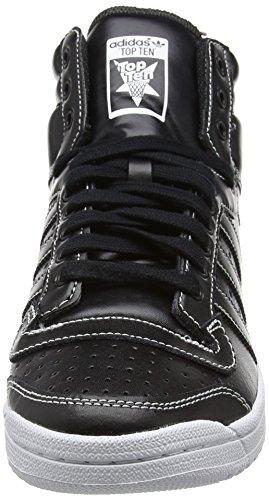 adidas Originals Top Ten Hi, Baskets Hautes Homme Noir - Schwarz (Core Black/Core Black/Core Black)