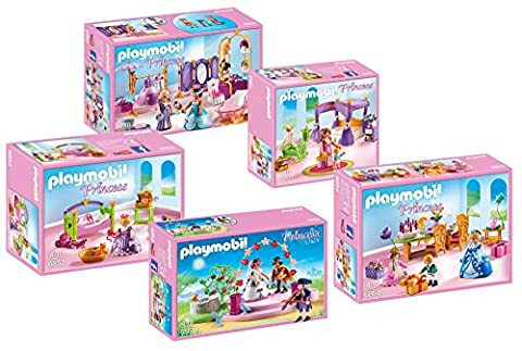 Playmobil 6848 Grand Chateau de Princesse - Meubles - Set - composé de: 6850 6851 6852 6853 6854
