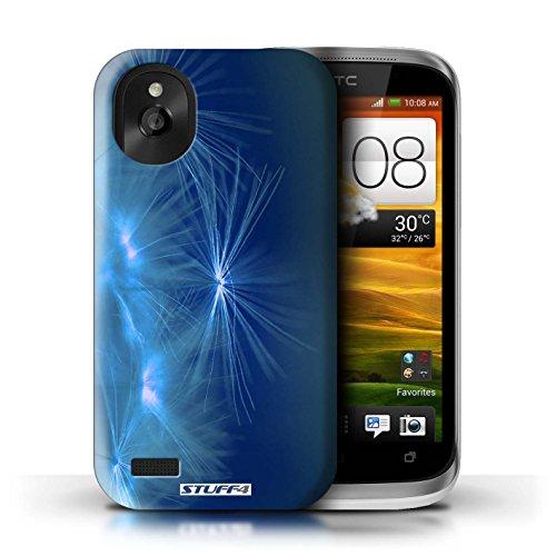 Kobalt® Imprimé Etui / Coque pour HTC Desire X / Vert conception / Série Allumez la vie Bleu