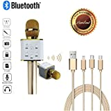 Lambent Lightning Cable 3 in 1 Multiple USB Charging Cable With Wireless Microphone (Bluetooth Speaker) For All Smartphones, IOS Devices with One Year Warrnty (Assorted Color)