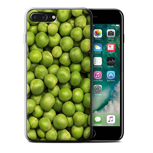 Stuff4 Gel TPU Hülle / Case für Apple iPhone 7 Plus / Schokolade Muster / Lebensmittel Kollektion Grüne Erbsen