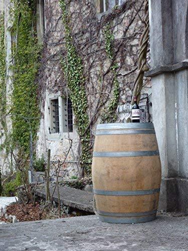 Temesso Botte da Vino in Rovere, barile, da Usare Come Tavolo, Decorazione - Altezza 95cm, Contenuto 225 litro