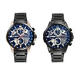 LANCARDO Herren Damen Armbanduhr Analog mit Edelstahl Armband LCD29P017