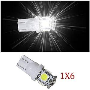 Muchkey® T10de voiture ampoules LED Intérieur LED Lampes de voiture Lampes LED 5lampes LED 5050SMD Blanc Lot de 6 pas cher – Livraison Express à Domicile