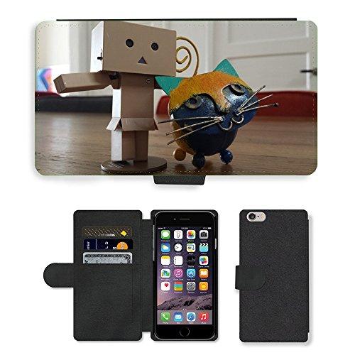 Just Mobile pour Hot Style Téléphone portable étui portefeuille en cuir PU avec fente pour carte//m00138430Pussy Stick Man point Pet Danbo//Apple iPhone 6Plus 14cm