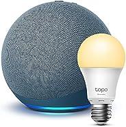 Echo (4ª generazione), Ceruleo + TP-Link Tapo Lampadina Connessa (E27), compatibile con Alexa
