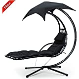 Popamazing® Canopy Garden Dream Swing Chair Hammock Reclining Sun Loungers Seat with Stand