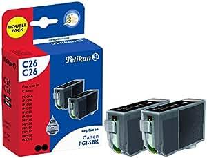 Pelikan C26  Pack de 2 Cartouches compatibles pour Canon PGI 5Bk 2x27ml Noir