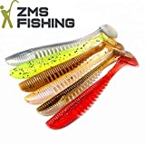 ZMS Fishing -Skelett Shads- 6-Teiliges-Set Gummifische (11 cm/5 g), im Rainbow Set - Ideal für...