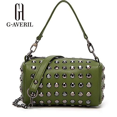G-AVERIL, Borsa a mano donna dorato Golden Green