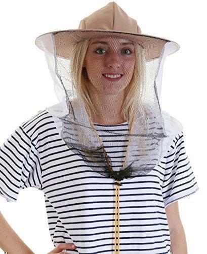 5 Chapeaux pour Apiculteur avec Filet Protecteur et Voile - Double Cerceaux et Cordon de Serrage