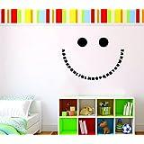 KalaKart 'Alphabet Smiley Kids Room Decal' Wall Sticker (PVC Vinyl, 61 Cm X 42 Cm, Black)