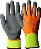 strongAnt - Superflex Thermo + guanti da lavoro di alta qualità, invernali, per il montaggio con buon isolamento dal freddo, completamente rivestiti e impermeabili