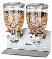 Dispenser erogatore di cereali a 2 campane da 3,5 litri - Bartscher 500378
