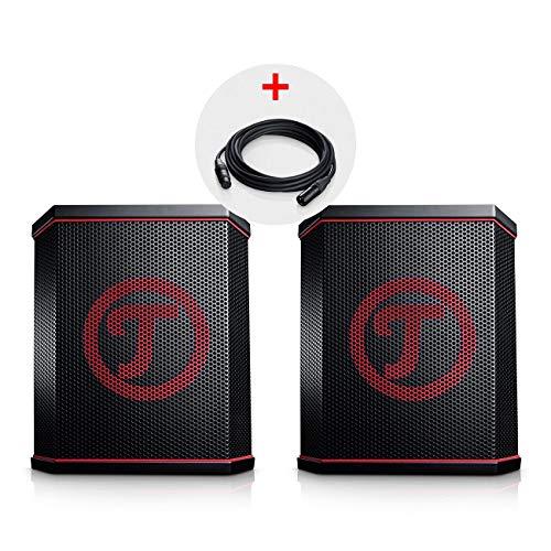 Teufel ROCKSTER AIR Stereo-Set Schwarz Streaming Bluetooth Wireless Musik BT WiFi