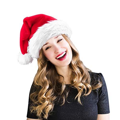 homeasy Weihnachtsmütze Nikolausmütze Weihnachtsmannmütze Partymütze Weihnachtsfeier Hut Weihnachtsmarkt Hüte