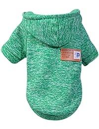 Suéter con Capucha para Mascotas Ropa para Perros Estampado de Rayas Chaqueta de Mascota Cómoda Ropa de Invierno Adecuado para Perros pequeños Grande Mediano Gusspower