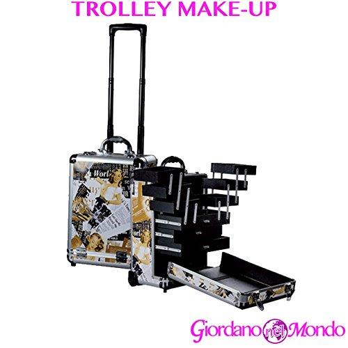 Chariot porte Maquillage Make Up Nail Art Porte Smartphone dur Professionnelle pour esthéticienne