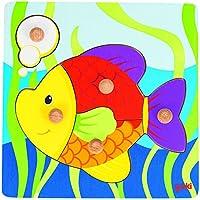 Goki - Puzzle encaje con pez, 5 piezas, de madera (Gollnest & Kiesel 57554.0) - Peluches y Puzzles precios baratos
