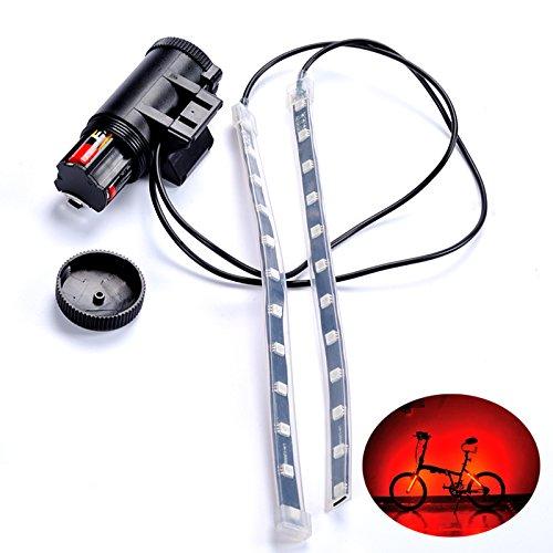 LaDicha Fahrrad Fahrrad Rad Ventil Speiche Led Lampe Armband Bar 5 Beleuchtungsfarben 8 Modi Für Radfahren Rad 5-speichen-felgen Weiß