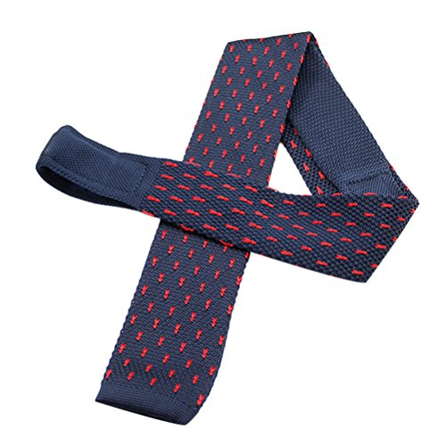 Zhhlinyuan Corbata Hombre roja blanca Multicolores Moda Clasica Knit Ties Skinny Soft Flat Necktie for Men for Husband - Graduation Gift Multi Patterned
