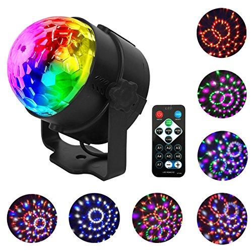 Eyourlife Bühne Lampe LED Discokugel LED Ball 7 Farben RGBWPY Disco Effekt Beleuchtung Licht für Disco KTV Bühne Bar Party Disco Hochzeit Geburtstage Stadiums