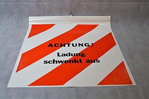Warnflagge für Langholzfuhrwerke 50 x 50 cm Robust LKW Plane beidseitig beschriftet