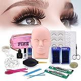 Wimpernverlängerung übungskopf Set, [Verbessert] MYSWEETY Make-up Trainieren Bausatz mit...
