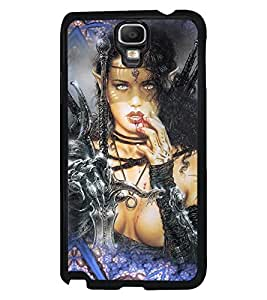PRINTVISA The Embarasing Girl Premium Metallic Insert Back Case Cover for Samsung Galaxy Note 3 Neo - N7505 - D5761