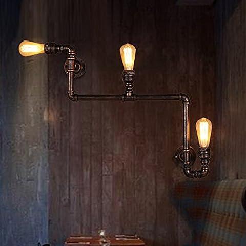 Loft industrial retro salón comedor lámparas cepillo creativo clubes de barras muro de hierro TRINOCULAR