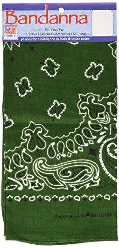 Carolina Have A Hank Paisley-Bandannas, 55,9 x 55,9 cm, Hunter Green - Green-zubehör Hunter