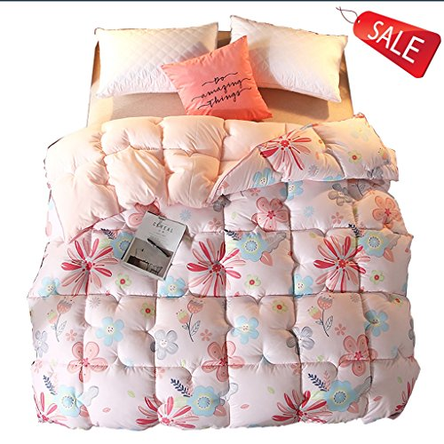 Bettdecken Rosa Bedruckte Winter warme Schlafzimmer Doppelbett 3,5 kg Kinderbettausstattung (Size : 150 * 200cm) - Herbst Futon