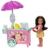 Barbie FDB32 Club Chelsea Ice Cream Cart Doll and Playset