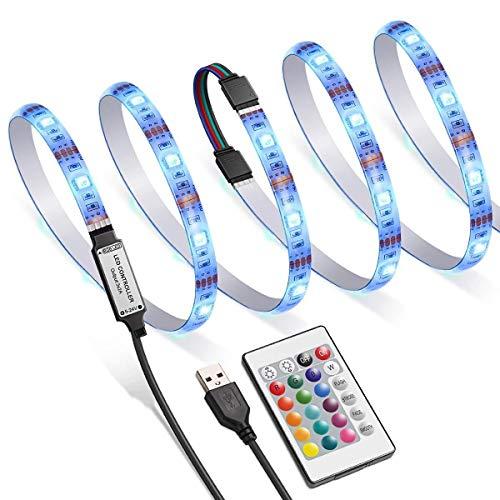 XUJJA [2019] Die neue TV-Hintergrundbeleuchtung LED, die RGB-30-Lichtleiste, 16 LED-Farben, vier Arten von Helligkeitsmodus, eine Fernbedienung, USB Vorbeleuchtungspegel Paket 40-60 Zoll-HD-Fernseher, (40-zoll-led-licht Bar)